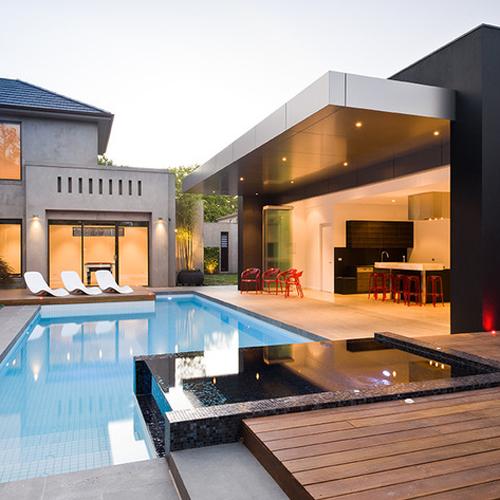 Sample of Modern and Minimalist pool design / FresHOUZ.com