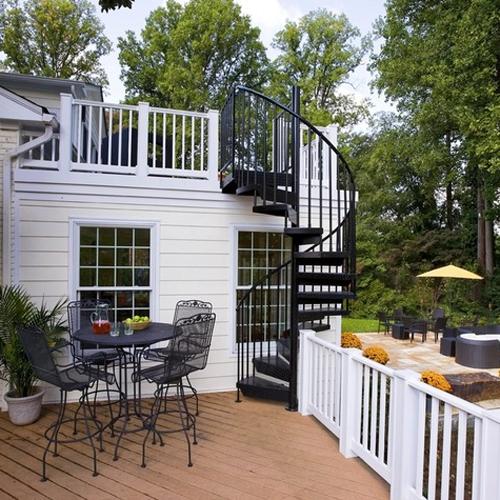 Spiral Staircase Design For Outdoor Home FresHOUZ