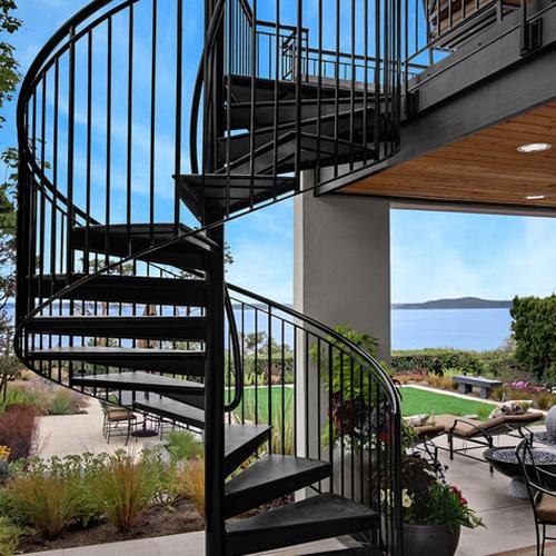 Spiral staircase design for Outdoor home – FresHOUZ