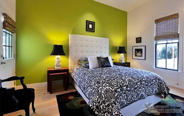 Green Nuances Bedroom Interior Design Ideas