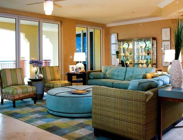 Living Room Design in Traditional Tropical Style / FresHOUZ.com