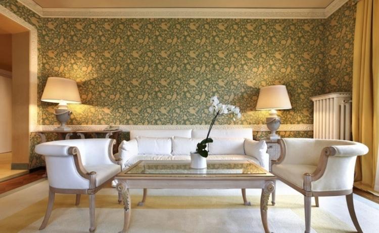 Wallpaper Designs For Living Room Living Room Design With Wallpaper  Wallpaper Design For Living   Modern Part 79