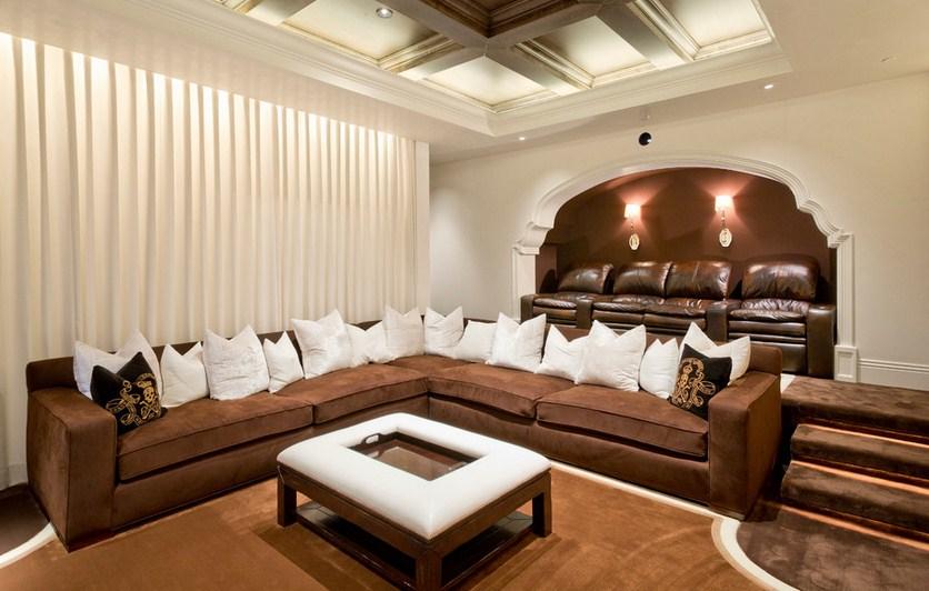 Mediterranean Estate Home Theater