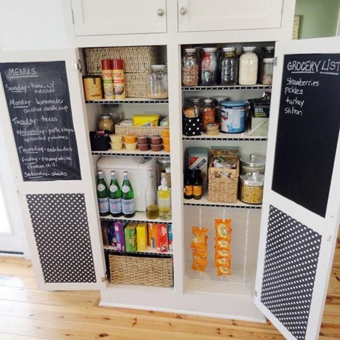 Chalkboard Paint Kitchen Pantry Cabinet