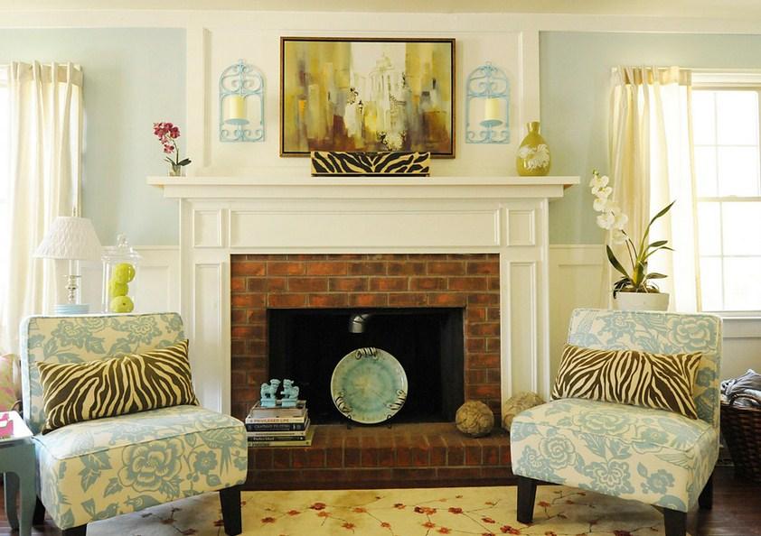Contemporary Beach Fireplace