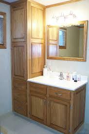 Cool Wood Bathroom Cabinet