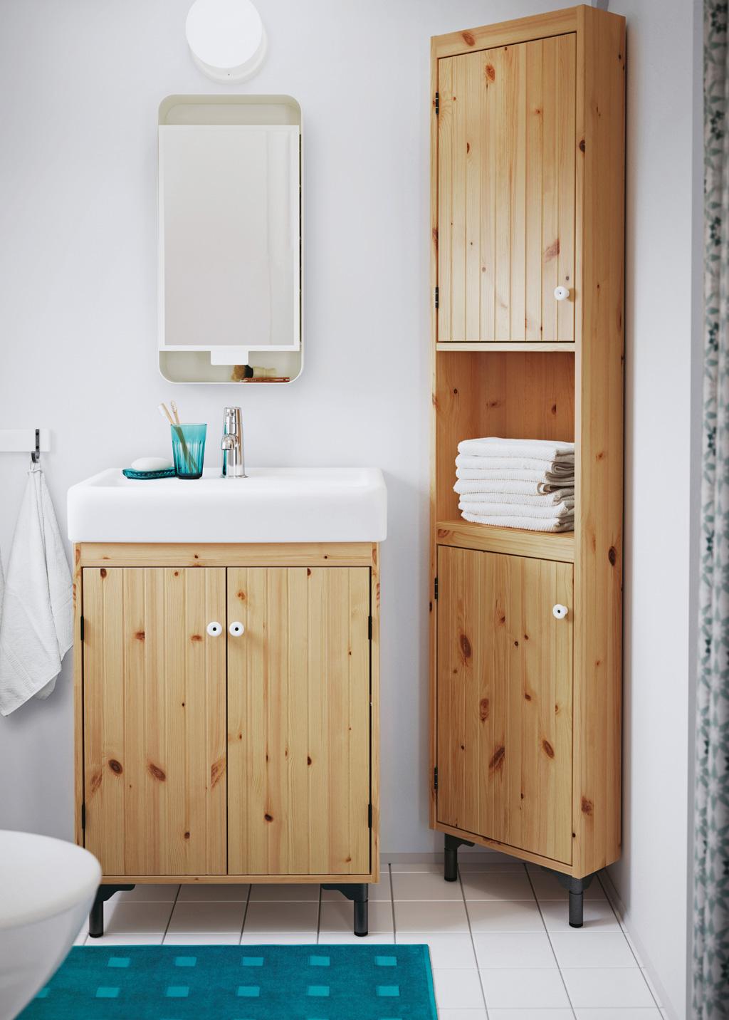 Corner Cabinet In Light Brown
