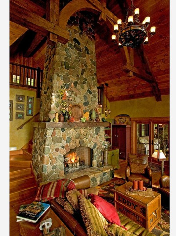 Fieldstone Fireplace Design