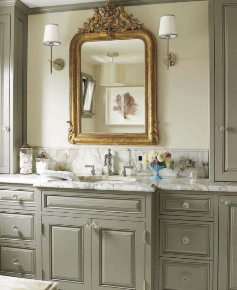 Grey Bathroom French Cabinet
