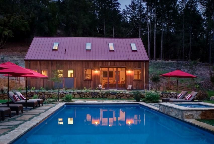 Santa Rosa Barn Pool Design