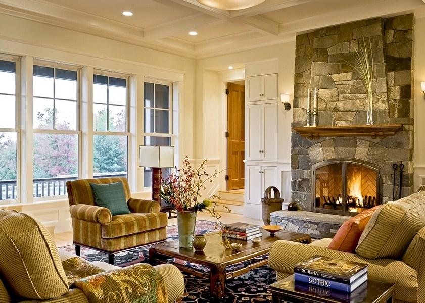 Shingle Fireplace Style