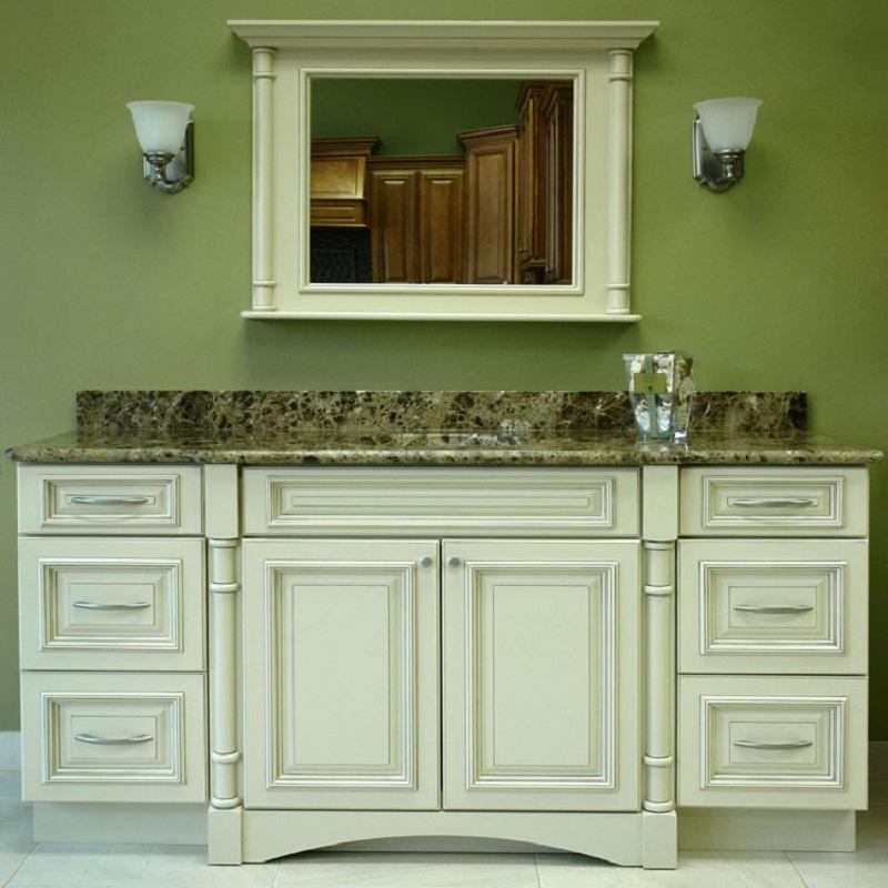 Simple Green Bathroom Vanity