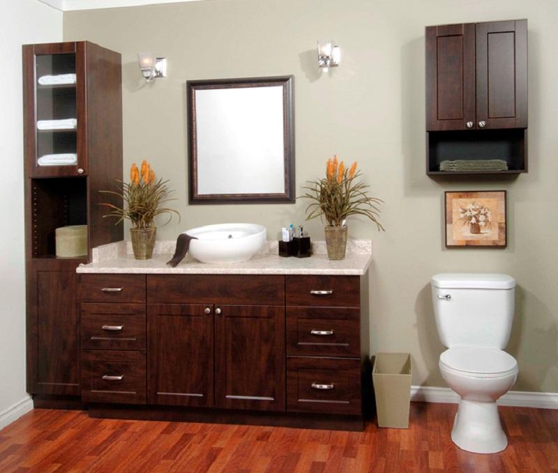 Solaire In Dark Chocolate Bath Cabinet