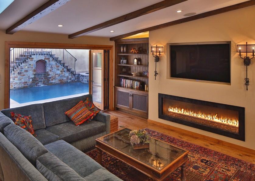 Spanish Revival Fireplace Design