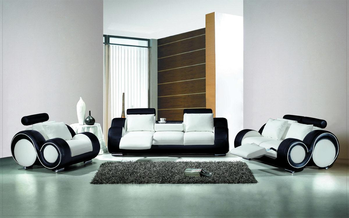 White And Black Livingroom Minimalist Furniture