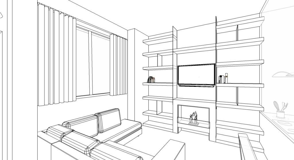 Alessandra Clinca Living Room Sktech