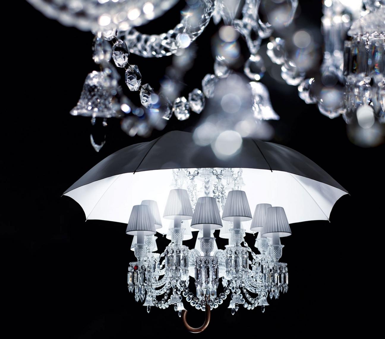 Baccarat Marie Coquine Chandelier, 12 Light Inside Chandelier With An Umbrella