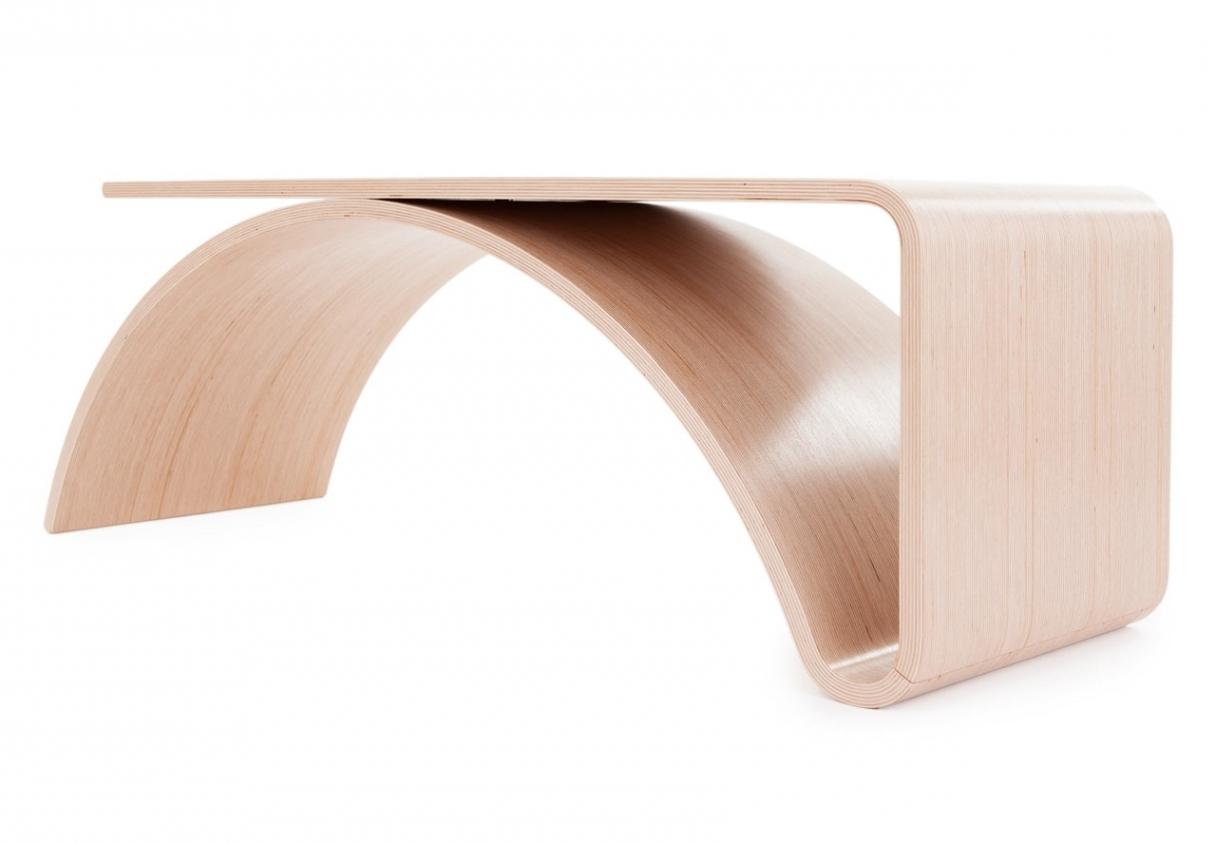 Minimalist Table With A Twist: The Kaari Tablejuhani Horelli Inside Minimalist Modern Table
