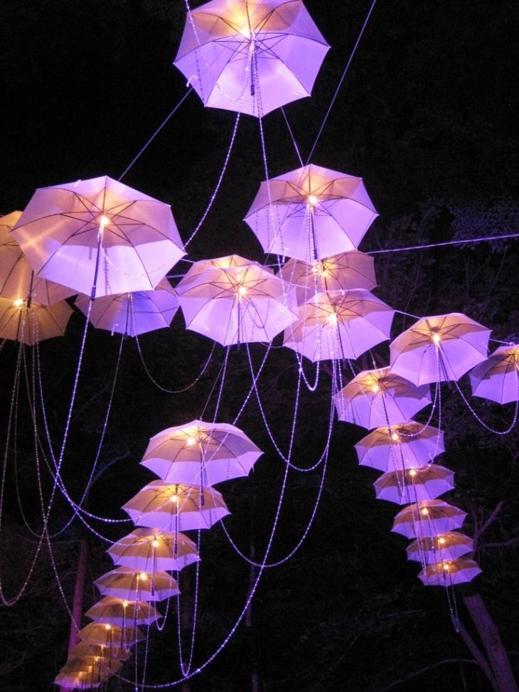 Stunning Umbrella Chandelier Within Chandelier With An Umbrella
