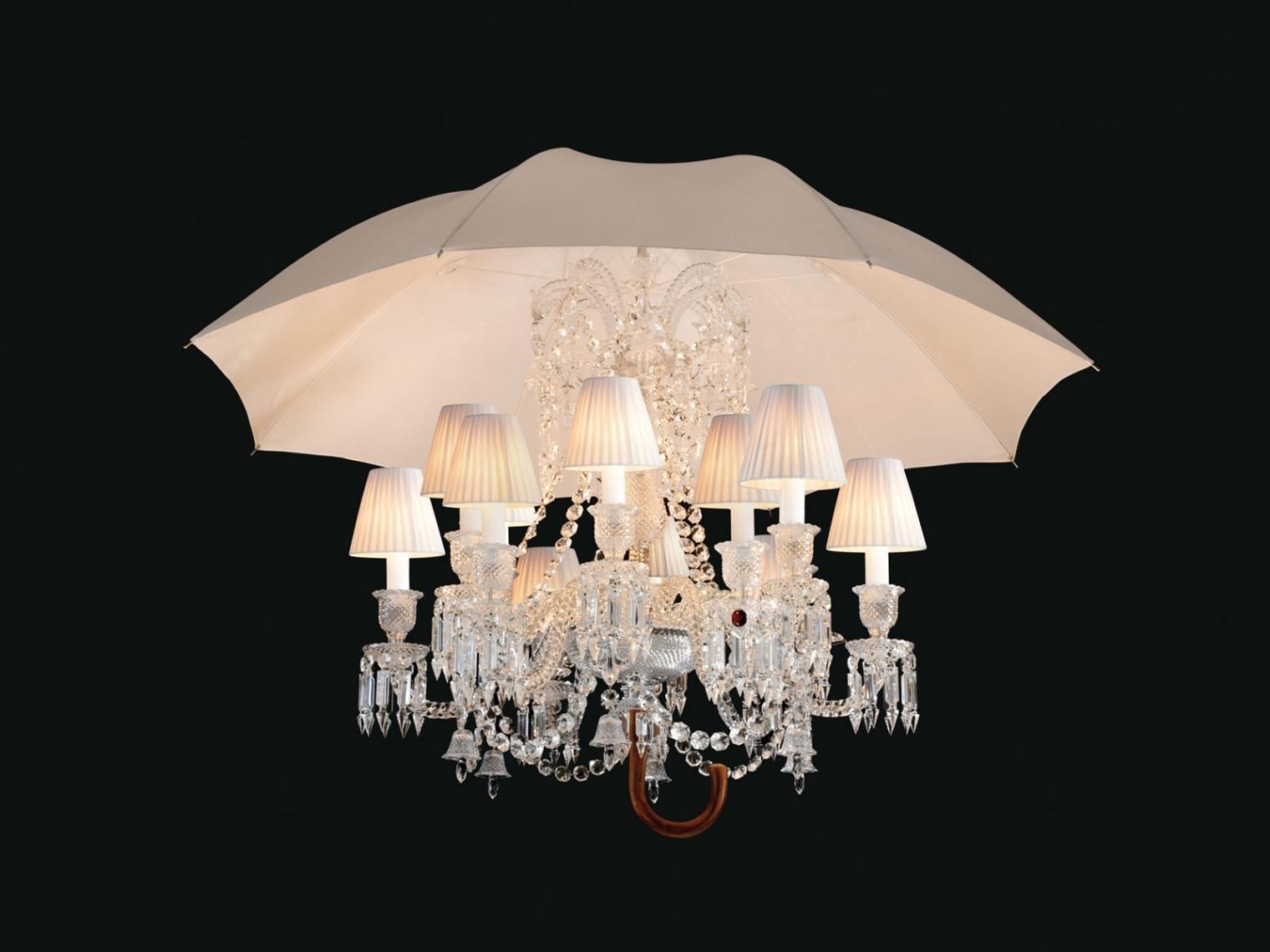 Umbrella Lamp Chandelier Baccarat Marie Coquine Chandelier, 12 Light Within Wonderful Lamp Chandelier With An Umbrella
