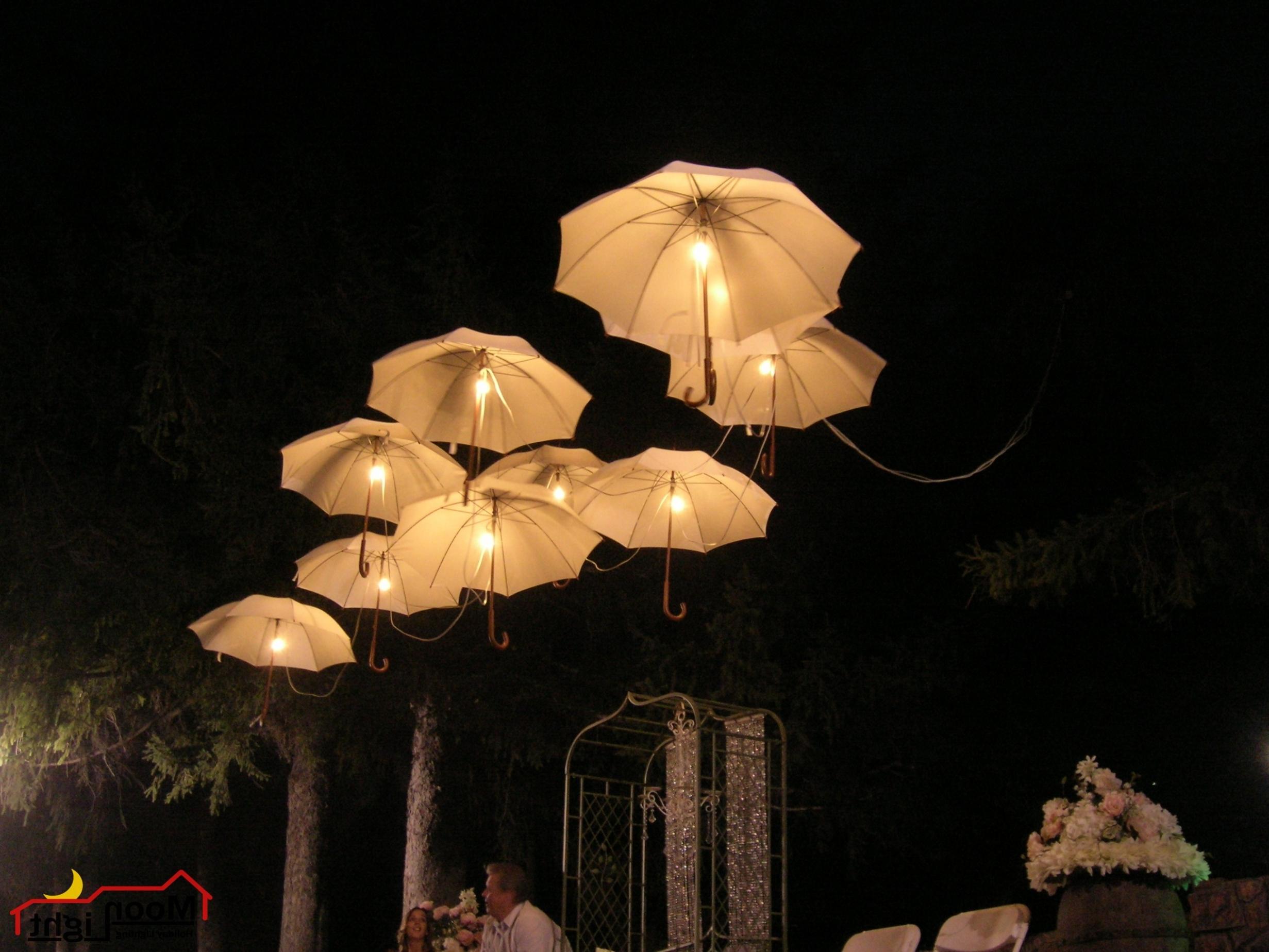 Umbrella Lamp Chandelier Throughout Wonderful Lamp Chandelier With An Umbrella