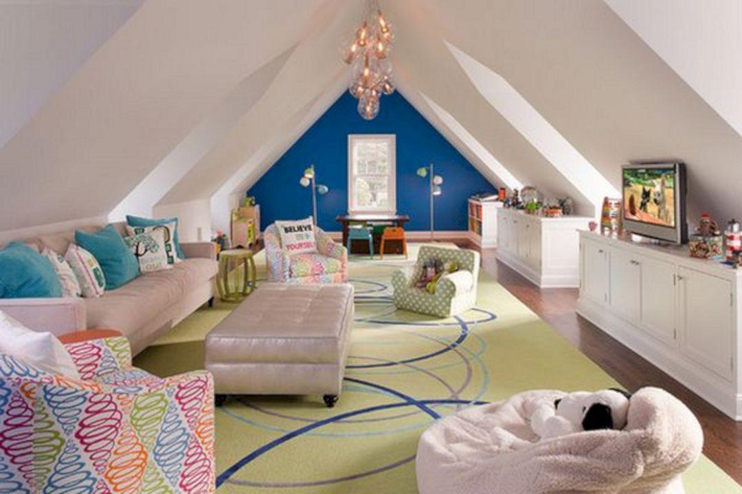 63 Comfortable Attic Playroom Design Ideas Freshouz Com