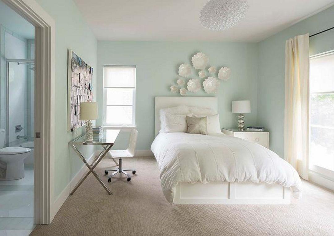 dark pastel blue bedroom decor