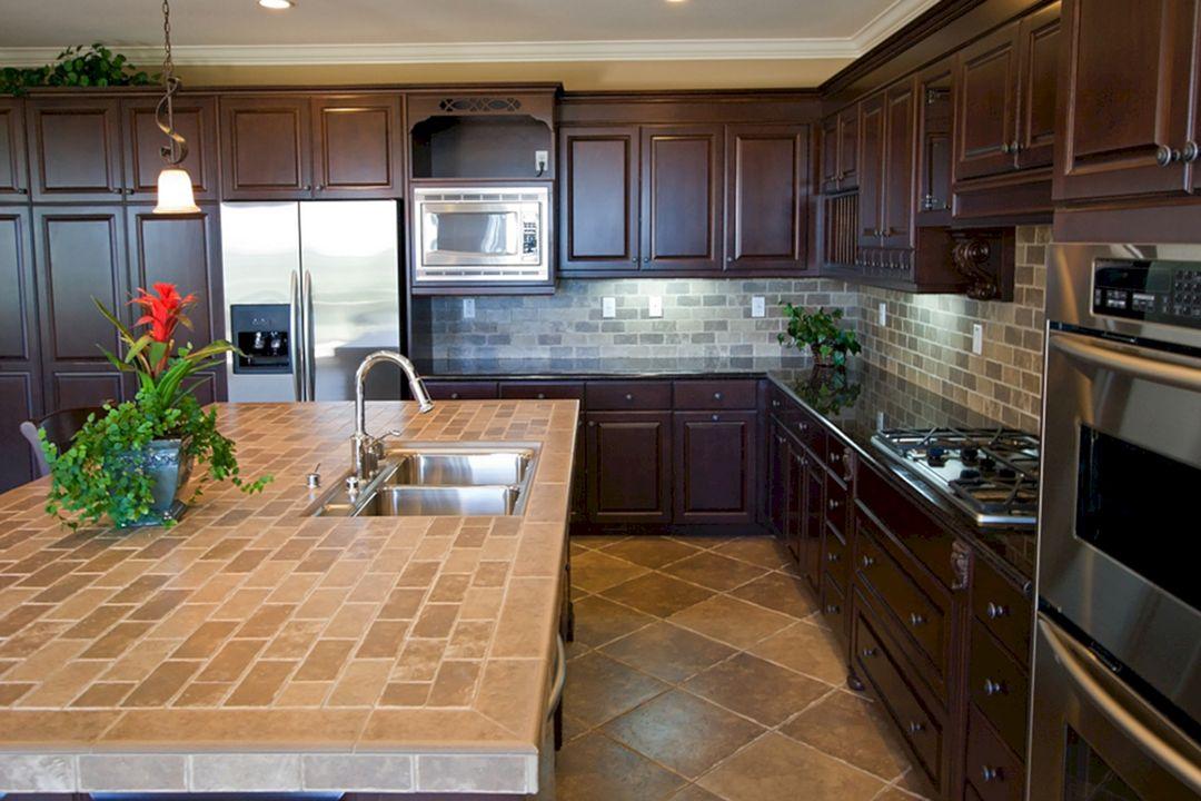 Worktop Backsplash : Tile Countertop Kitchen Backsplash (Tile Countertop Kitchen Backsplash ...