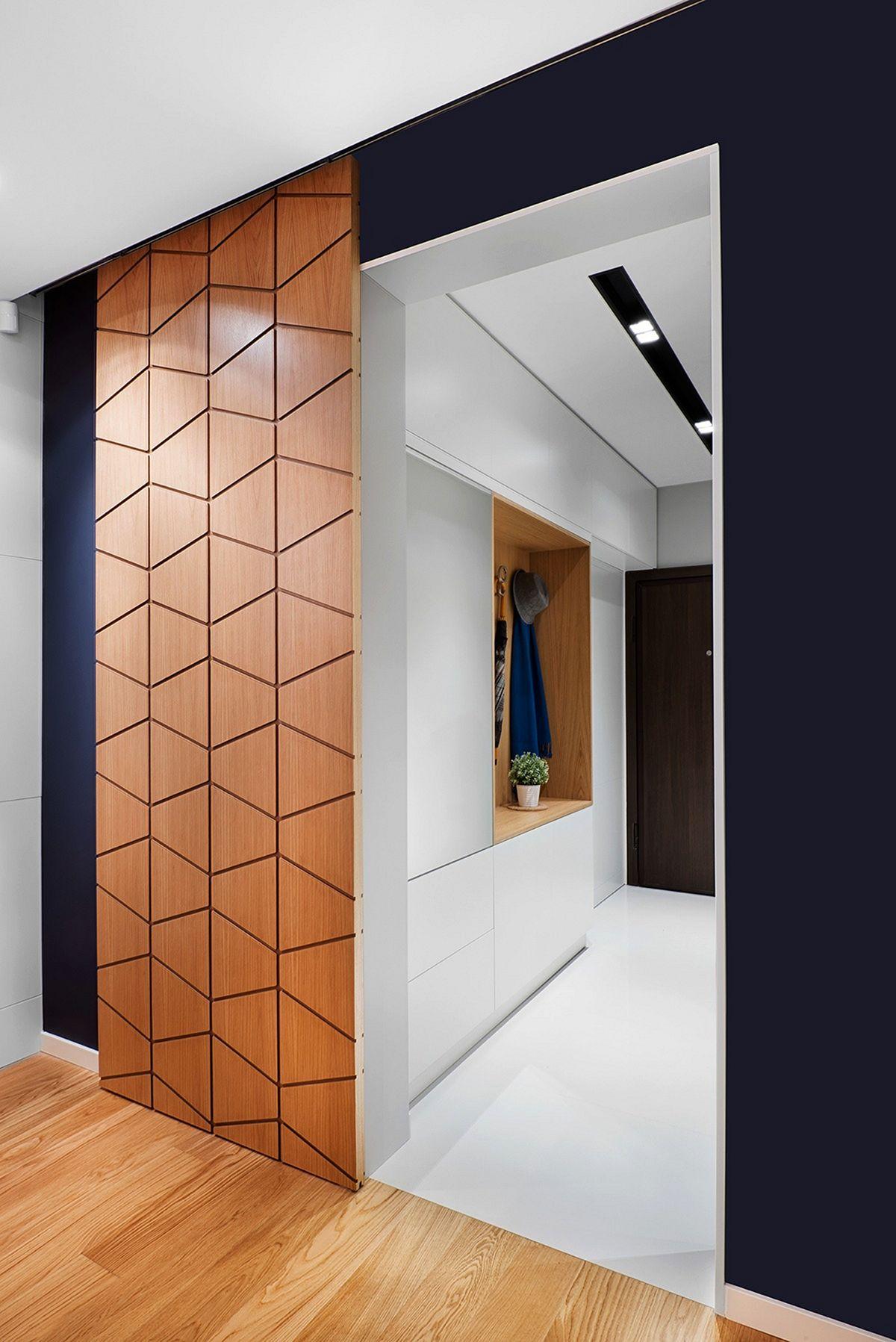 Фото интерьера квартир с дверьми раздвижными
