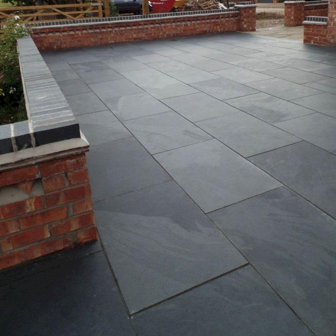 Stone Pavers Slate : Natural slate paver design ideas and
