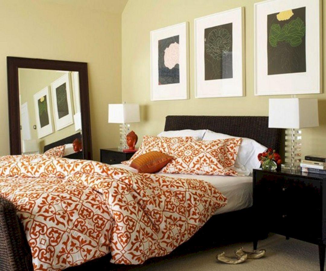 Orange color bedroom ideas