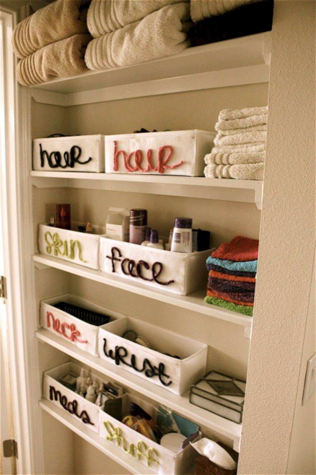 Small Bathroom Closet Organization Ideas Small Bathroom