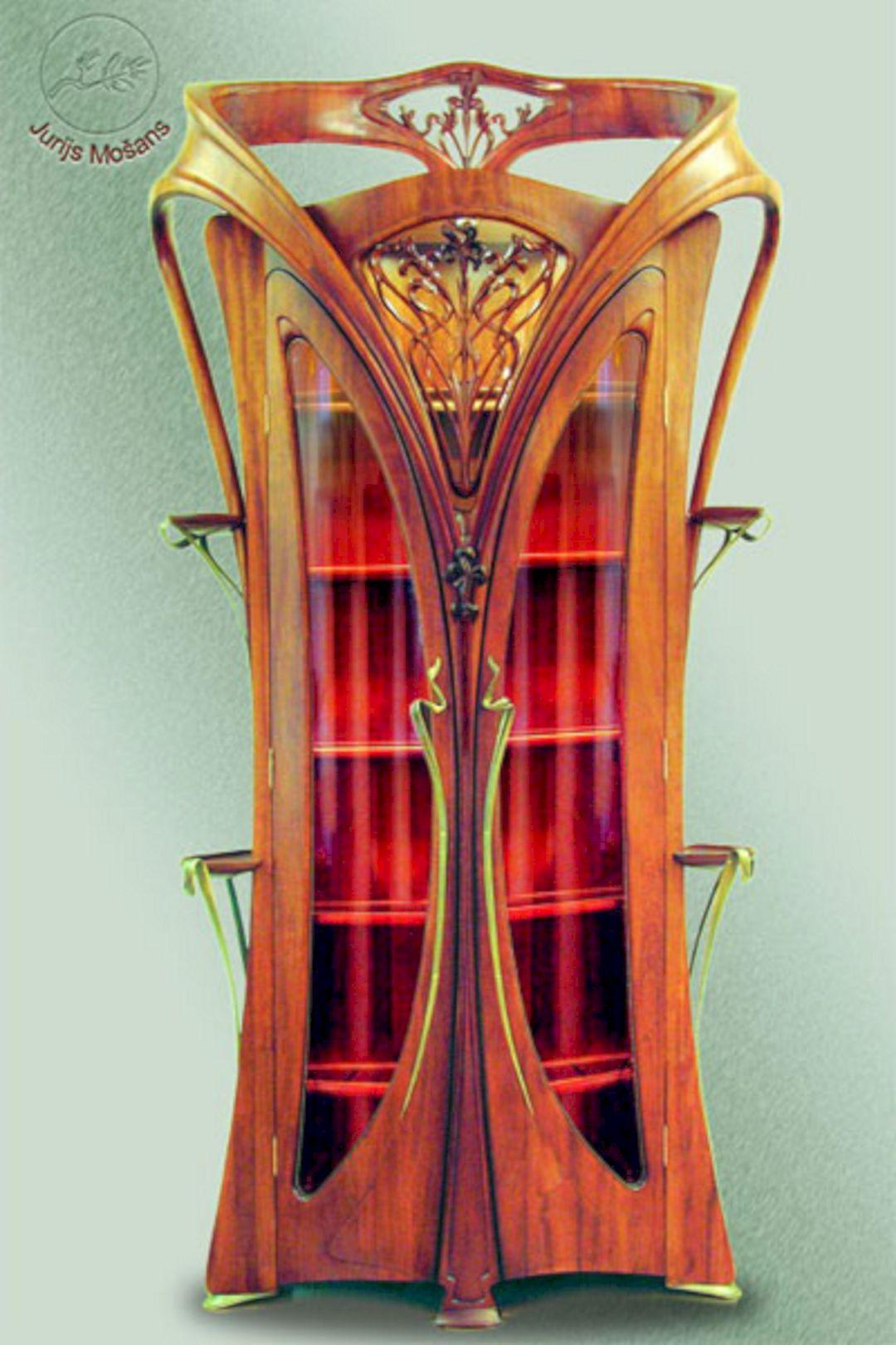 Art nouveau cabinet furniture art nouveau cabinet for Art nouveau decorating ideas