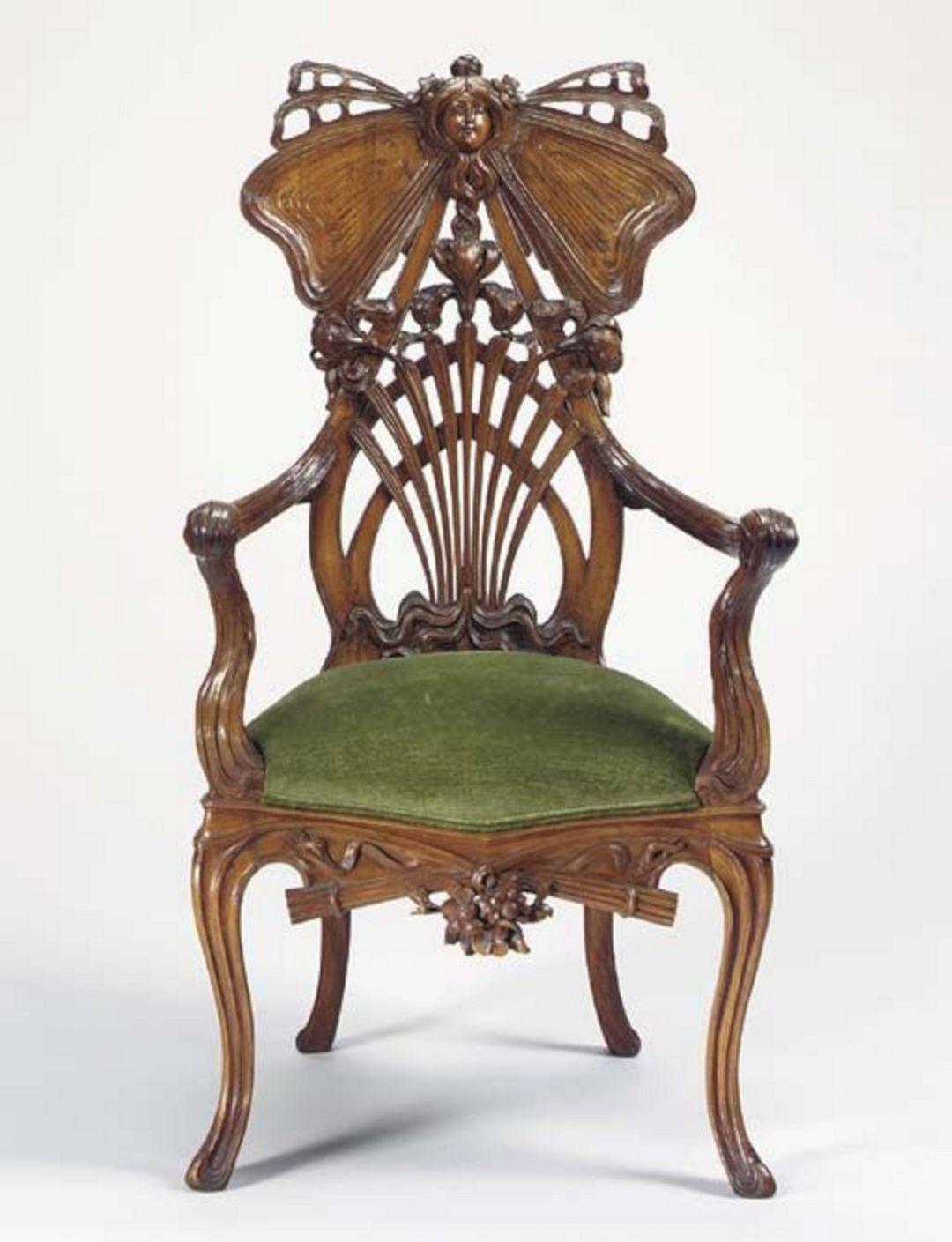 Art nouveau carved chair art nouveau carved chair design for Art nouveau chaise