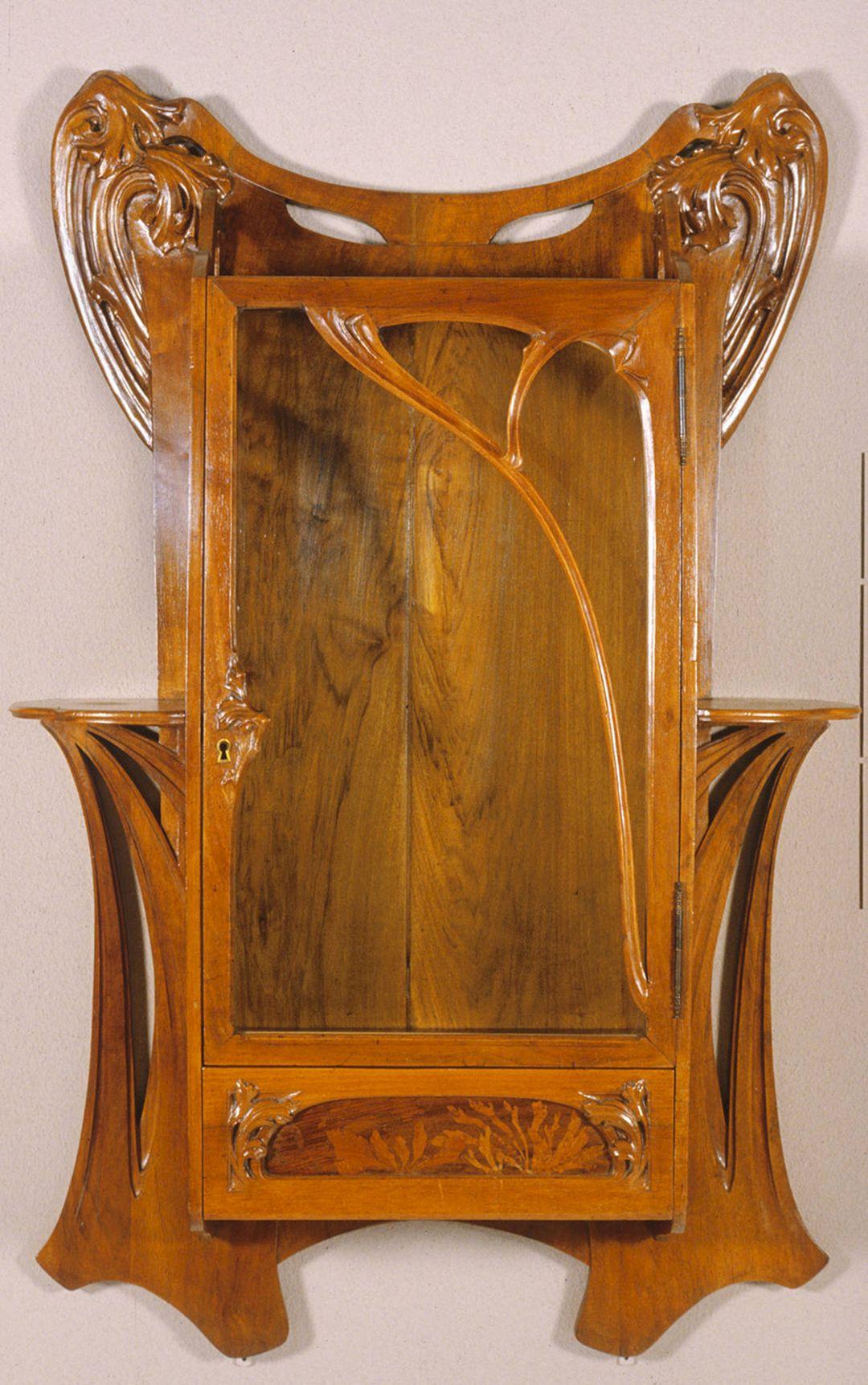 Art nouveau wall cabinet art nouveau wall cabinet design for Art nouveau decorating ideas