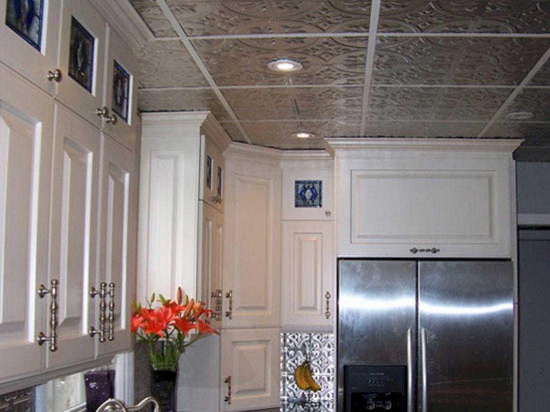35 Fresh White Kitchen Cabinets Ideas To Brighten Your: Ceiling Tin Tile Backsplash For Kitchens (Ceiling Tin Tile