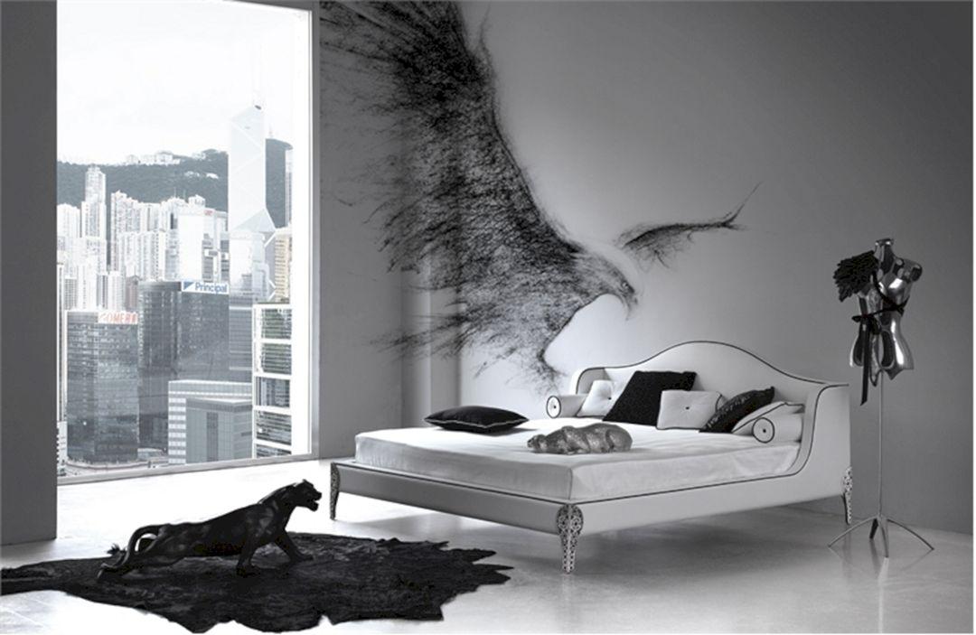 Elegant black and white bedroom design inspiration for Bedroom ideas and inspiration