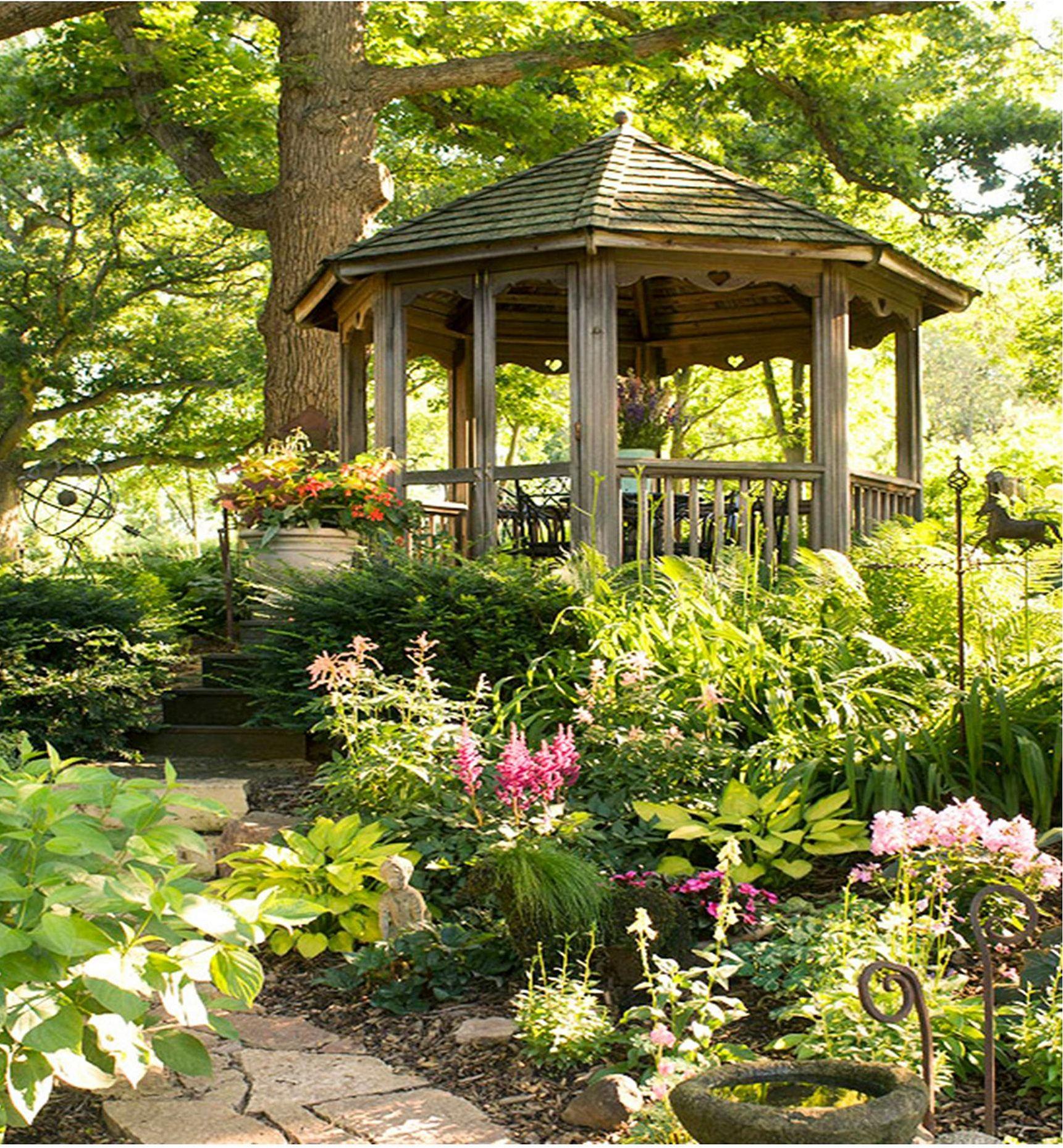 картинки красивого сада с беседкой молодой хотелось тогда