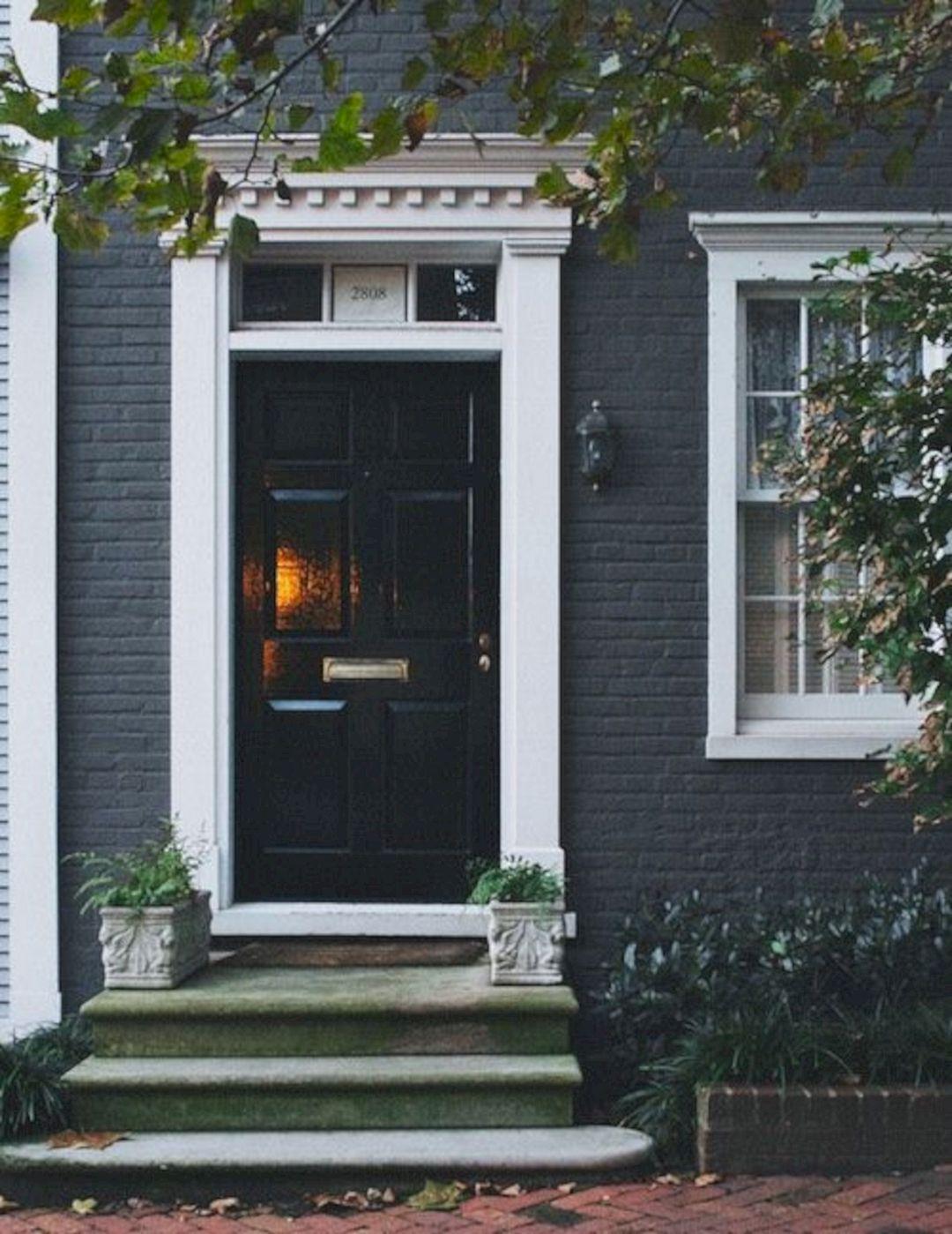 Blue door yellow house white trim blue door yellow house for Front door yellow house