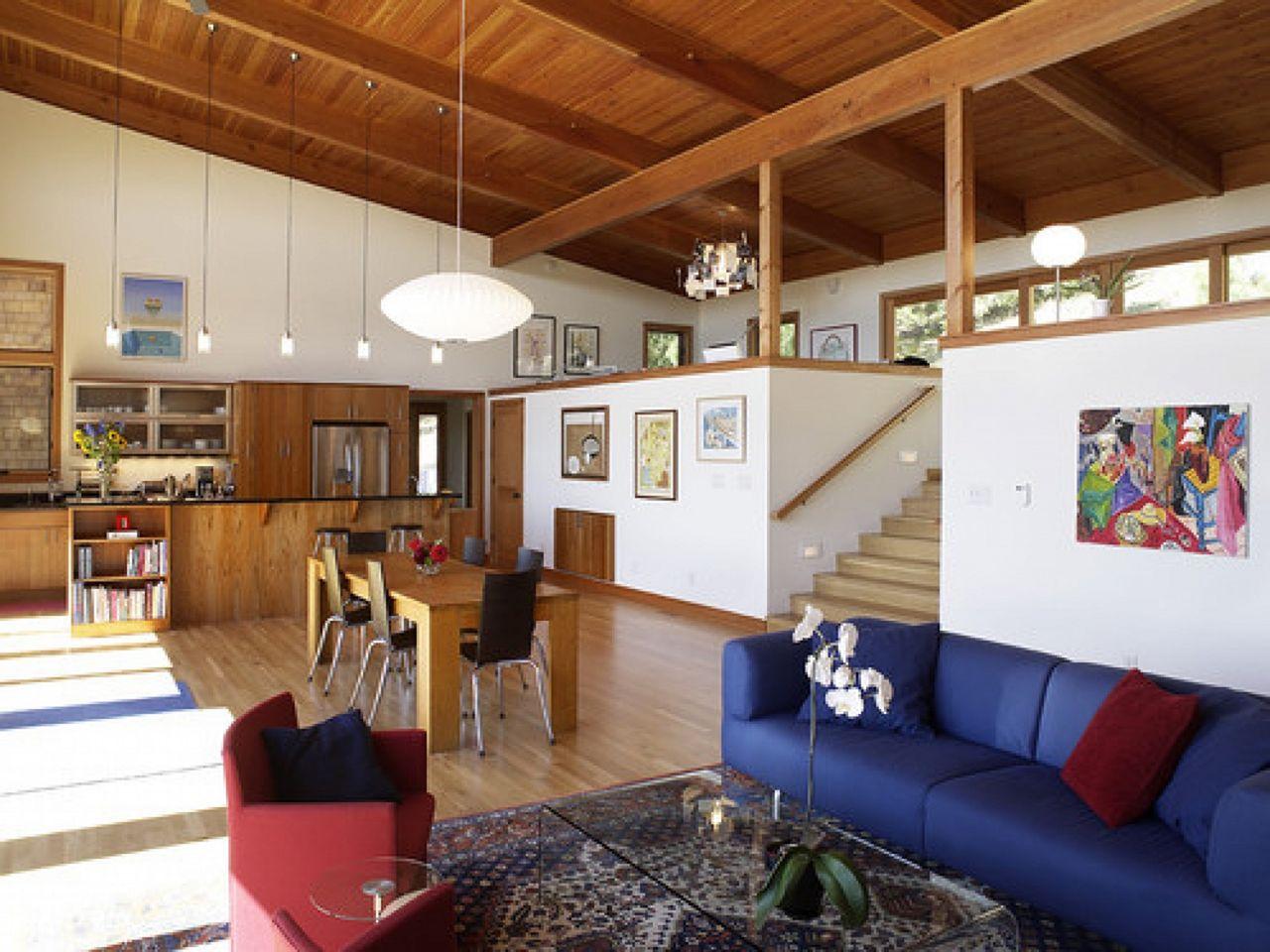 Design for split level open living room design for split for Split living room ideas