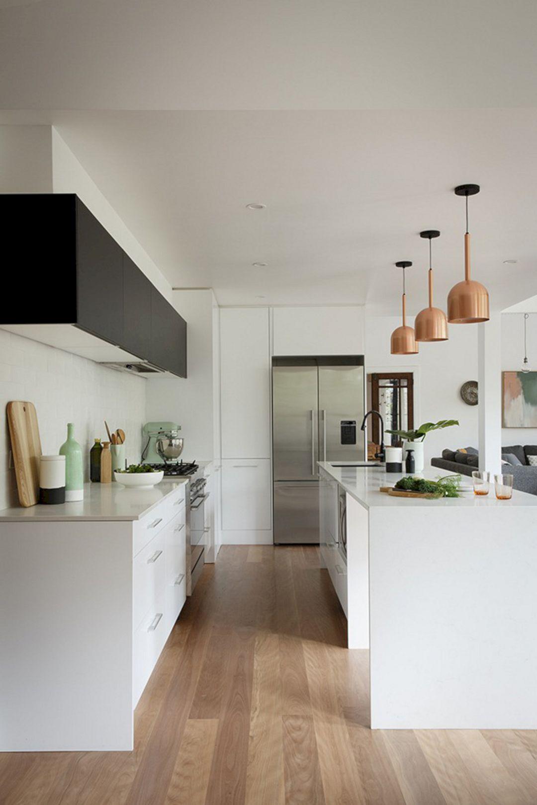 Beautiful Mint And Copper Kitchen Design 47 Beautiful