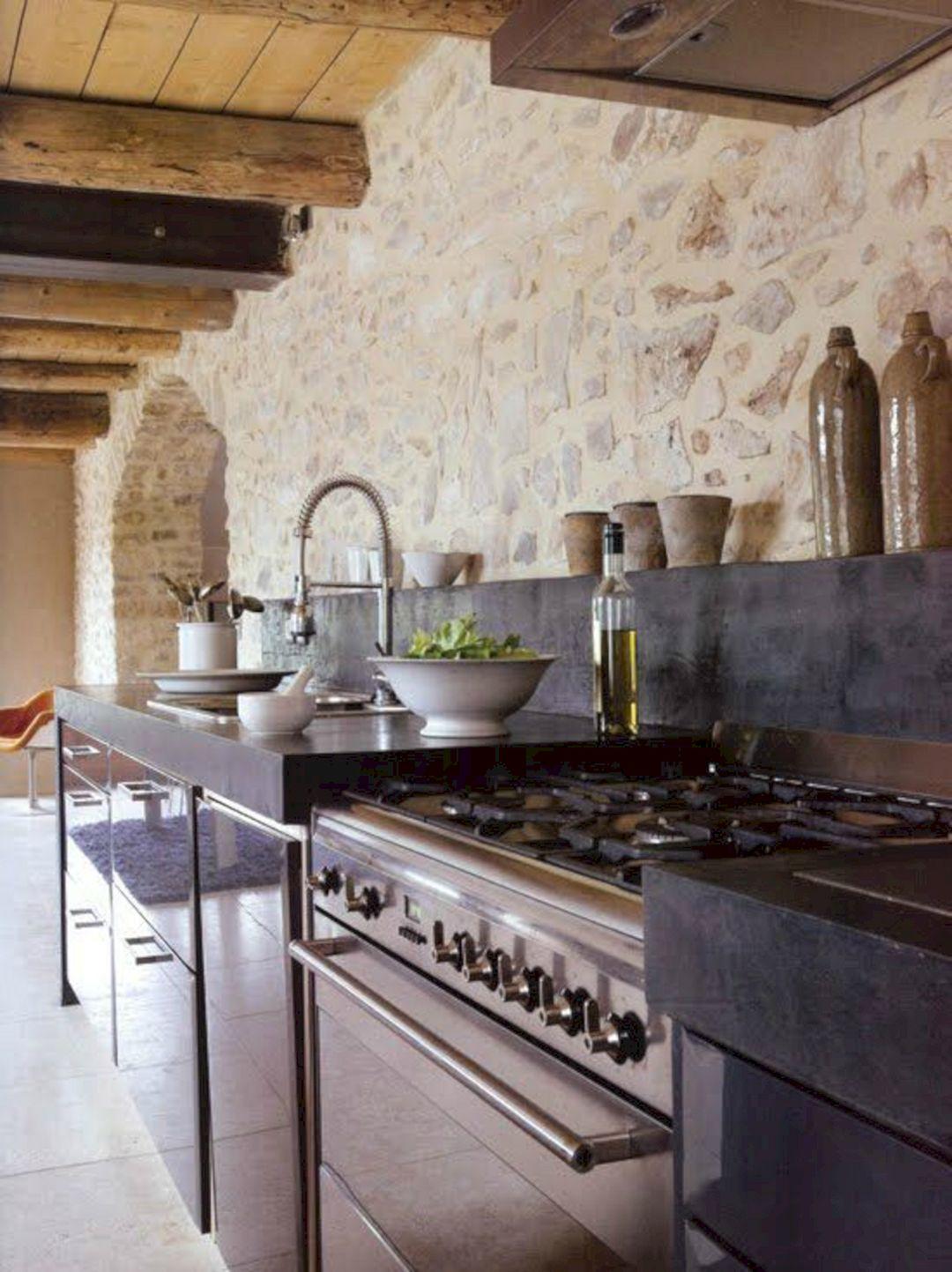 Kitchen Rustic Stone Wall (Kitchen Rustic Stone Wall ...