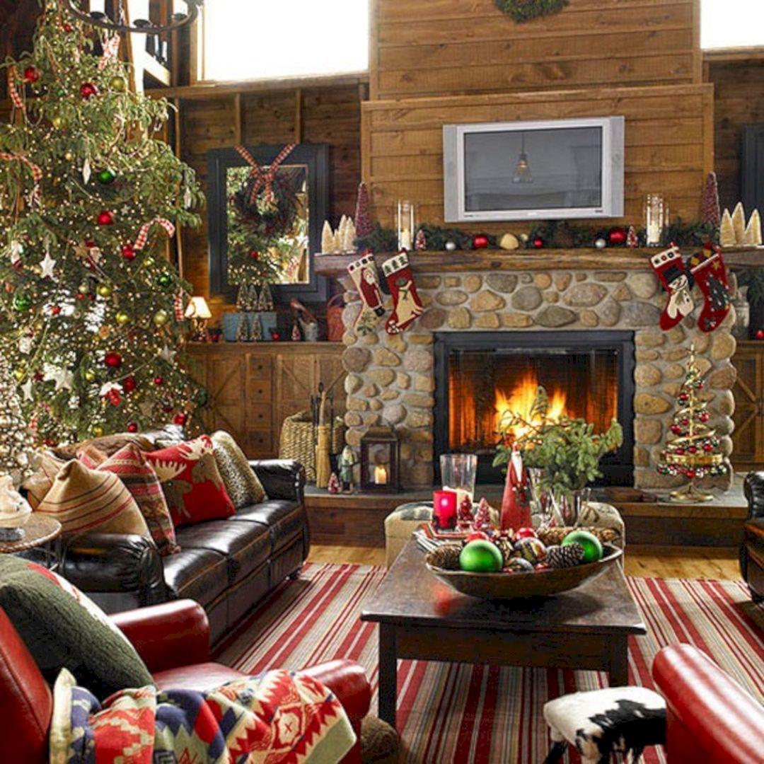 rustic christmas living room rustic christmas living room
