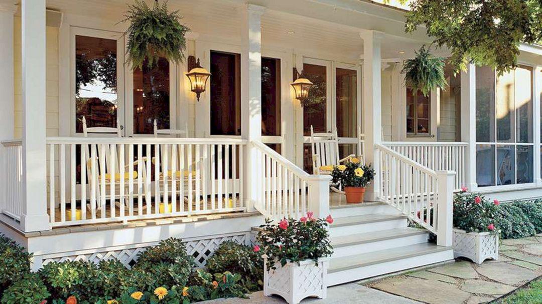 Gorgeous Farmhouse Front Porch Ideas 122 Gorgeous