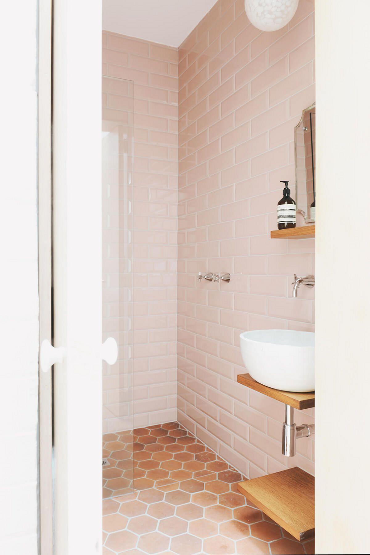 blush pink bathroom tiles blush pink bathroom tiles