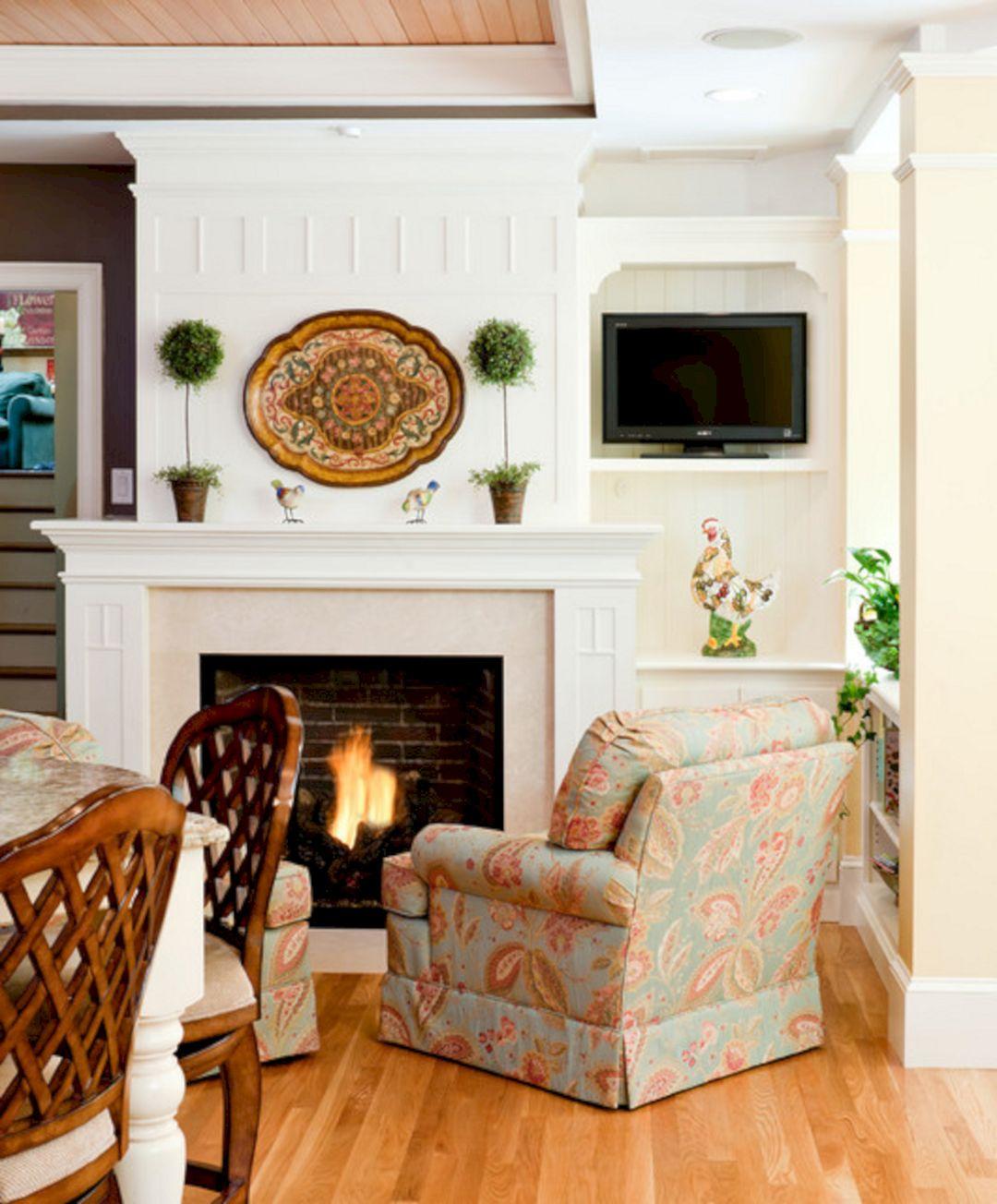 Home Design Ideas For Living Room: Kitchen Sitting Area With Fireplace (Kitchen Sitting Area