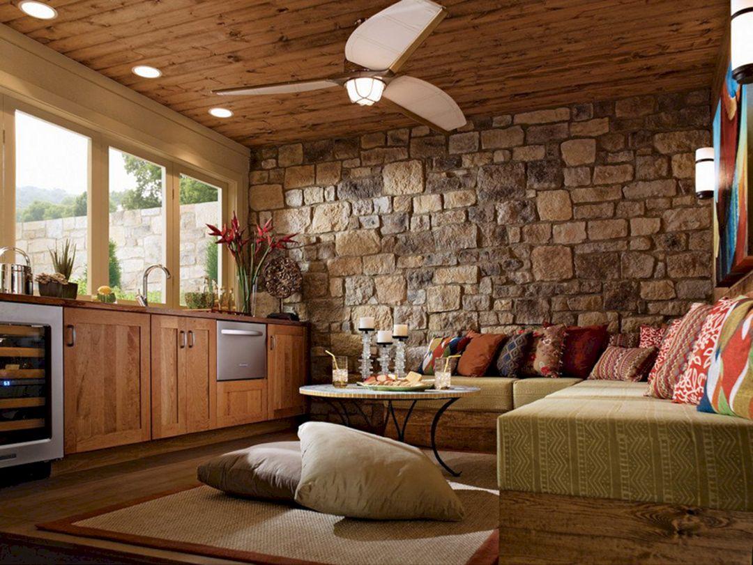 Rock Wall Living Room Ideas 20 (Rock Wall Living Room ...