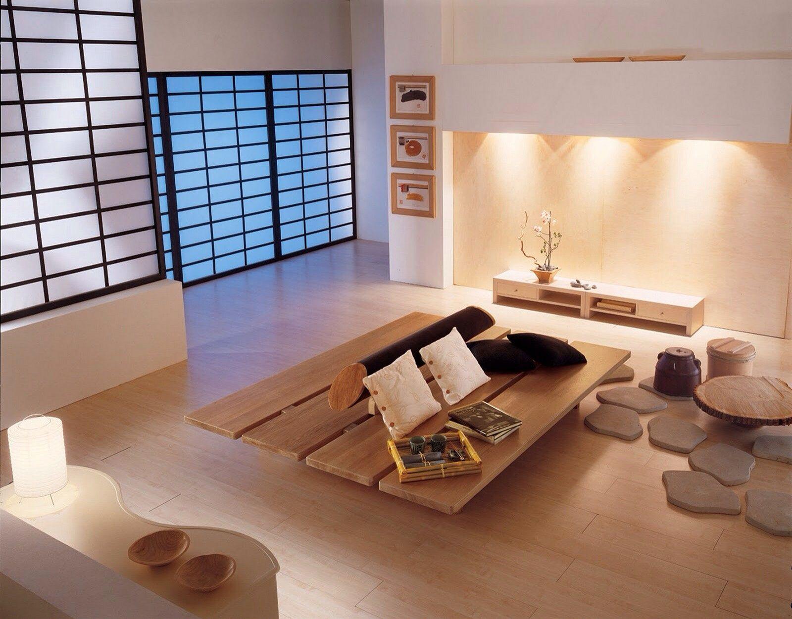 minimalist zen japanese style living room ideas
